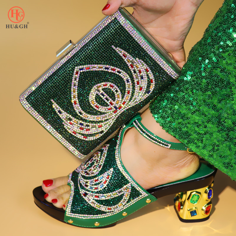 Africain or Arrivée Chaussure Sac vert Italien Noce Assorties Vert Ensemble Nouvelle Couleur De En Femmes Noir rouge Chaussures Et Sacs Tq0xwdS1