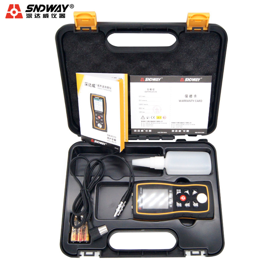 SW-6510 Ultrasonic Thickness Gauge Color High Precision Metal Plate Thickness Gauge Digital Glass Thickness Gauge new high precision digital micrometer precision thickness gauge 0 12 7mm 0 001mm paper film fabric tape thickness measurement