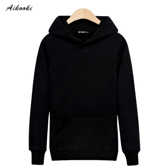 2017 HOT Fashion Solid hoodies men and Sweatshirts Black/Gray High Quality Cotton Street Wear Sweatshirt men hoodies XXS-3XL