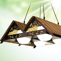 New Chinese style led peandant lights hanglamp Made of Bamboo with Led Bulb, Retro led pendant lamp wood with glass shade