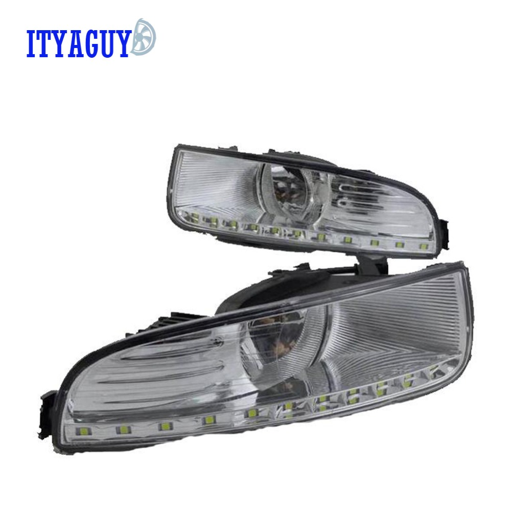 Car styling LED DRL Daytime Running Ligh front fog bumper lamp For Skoda Superb 2009 2010 2011 2012 2013 2PCS front bumper led fog lamp daytime running light replacement assembly 2p for lexus rx rx350 rx450h 2010 2011 2012 2013