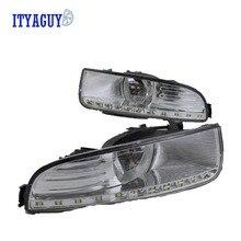 Стайлинга автомобилей СИД DRL Дневного Бордовый передние противотуманные бампер лампа Для Skoda Superb 2009 2010 2011 2012 2013 2 ШТ.