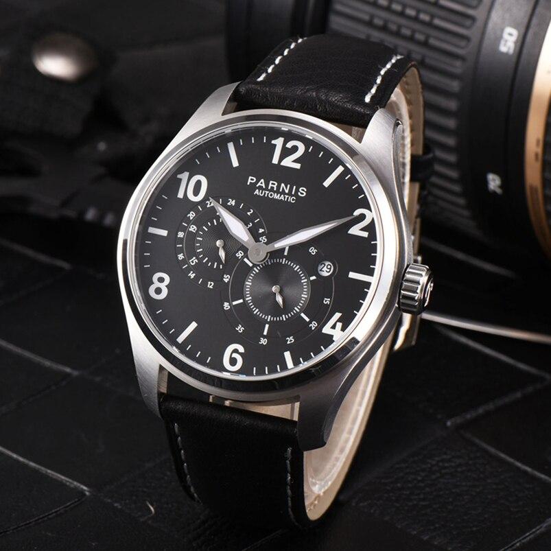 Latest 2017 Casual Automatic Mens Watch Parnis Luminous Waterproof Men s  Mechanical Watches horloges mannen 6f1ecd97766