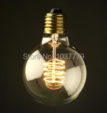 Big Globle Lamps Free Shipping 125mm Diameter G125S Squirrel Cage Filament Bulb 1920s Reproduction Lightbulbs 220V