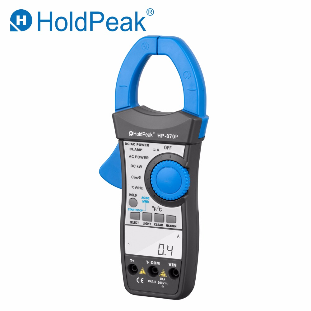 HoldPeak HP 870P Power Clamp Meter AC DC Voltmeter 999 9A Ammeter Tester Electronic Multimeter Active