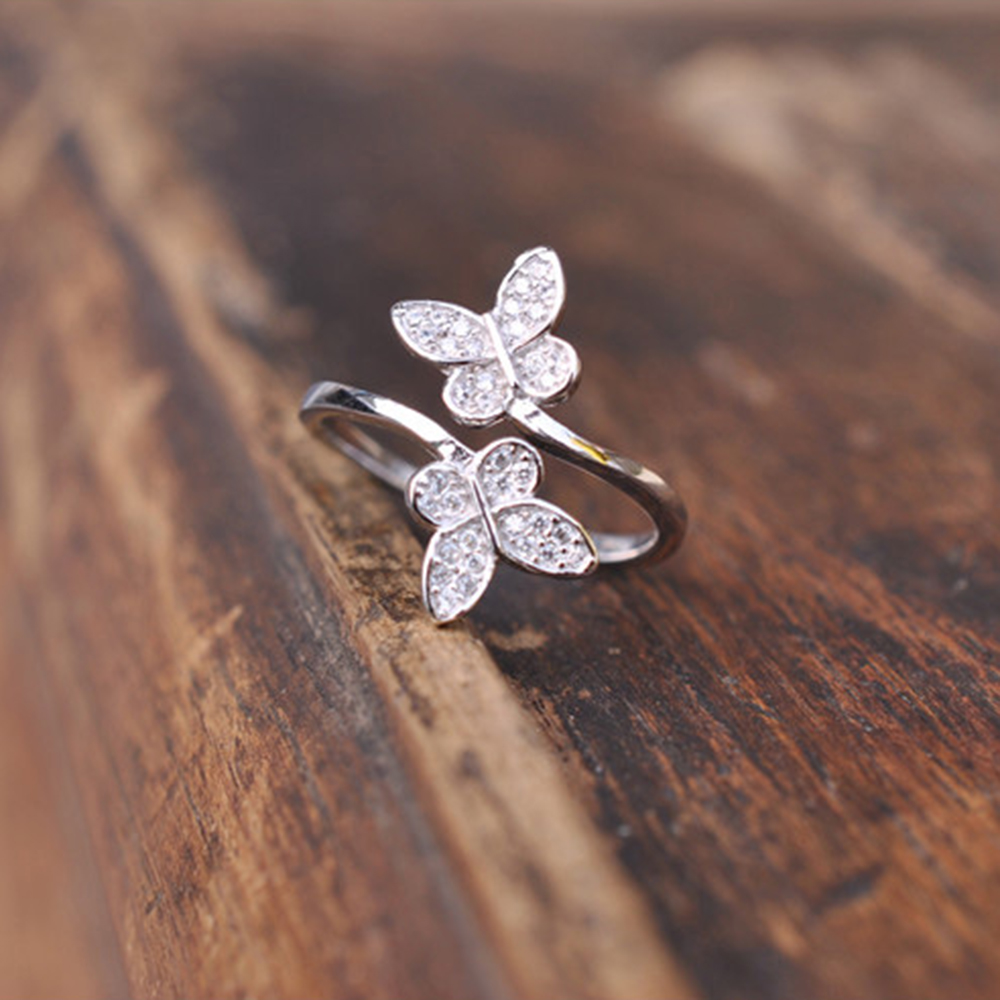 Handmade Sterling Silver Wire Ring Gem Toe Finger Open Ring