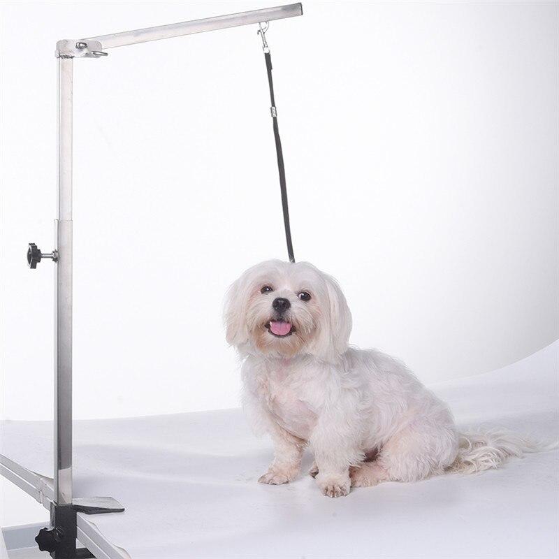 Складная ручка для ухода за питомцем, котом, собакой, 62 см, домашние животные из нержавеющей стали уход за щенком, подвеска для стола, без слинга - 3