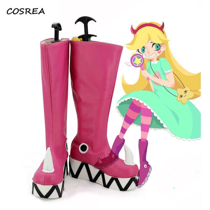 the Forces of Evil Princess Star Butterfly Magic Cosplay Shoes Boots Star vs