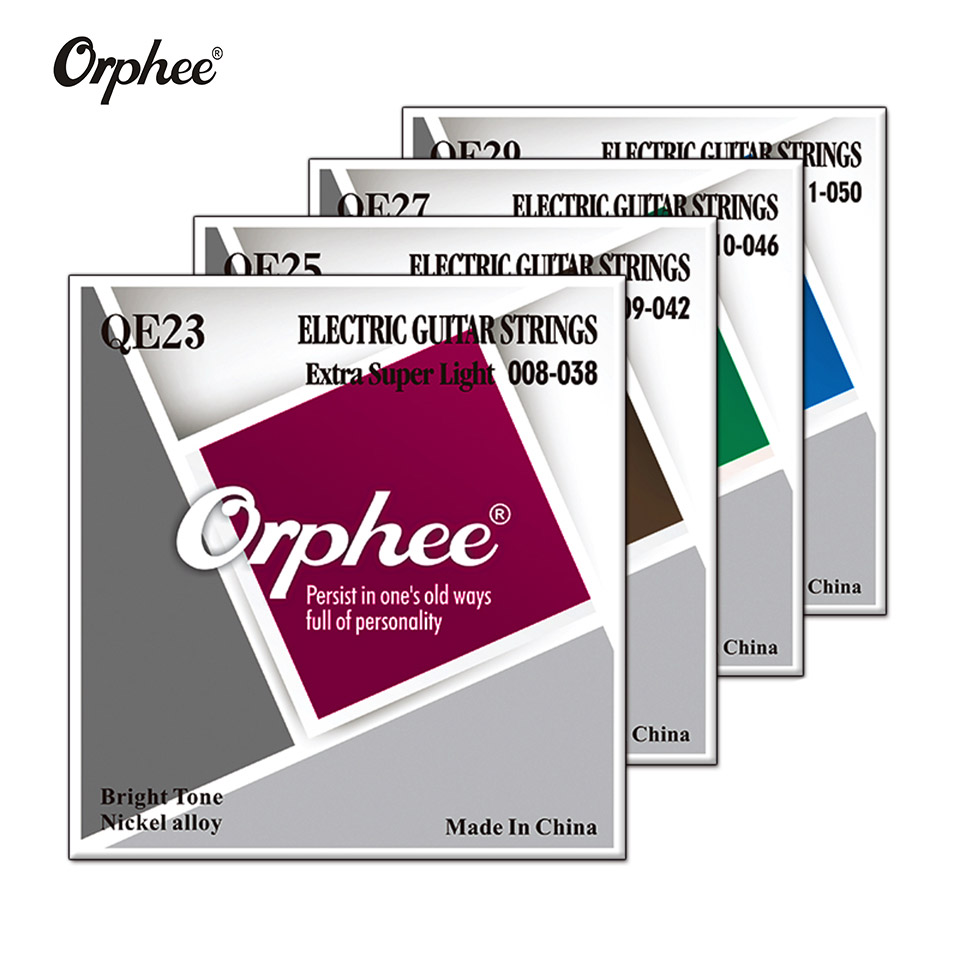 NEW Orphee Professional Guitar Strings QE Series Nickel Alloy Plated Electric Guitar Strings Replacement QE23 /QE25/ QE27/QE29
