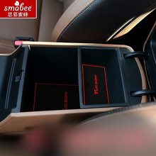 22pcs/set For Hyundai Tucson 2015 2016 Car Accessories 3D Rubber Mat Non-slip Mat Interior Door Groove Mat Smabee