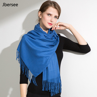 Jbersee Winter Cashmere Wool Scarf Women Men Soft Warm Ponchos and Capes Shawl Luxury Brand Womens Scarves Stoles WN015