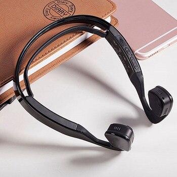 Wireless Ear Hook Bluetooth headset  Bone Conduction Headphone Hands-free Portable Sport Headset  HIFI Stereo Music Earphone