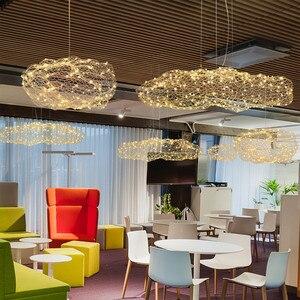Image 3 - Nordic Art Hollow Cloud Design Pendant Lights Creative Bedroom Hotel Hall Restaurant Bar Designer Firefly Led Lighting Fixtures