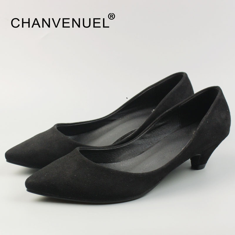Spring Office Lady Pumps Korean Style Shallow Women Shoes Sexy Low Heel Pointed Toe Pump Woman Basic Classic Big Size 2017 shoes woman fashion pointed toe shallow concise thick heel kid suede slip on office lady pumps brand wedding sexy shoes l09