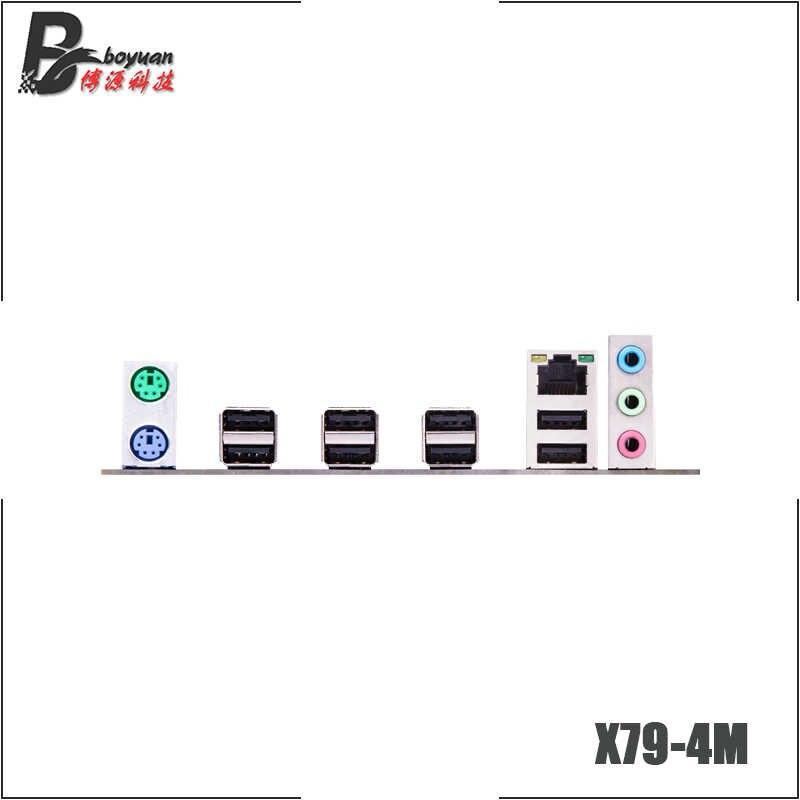 HUNNANZHI X79-4M X79 4 メートル M-ATX USB2.0 SATA2 PCI-E SSD 32 グラムダブルチャンネルサポート REG ECC メモリと Xeon e5 CPU LGA 2011