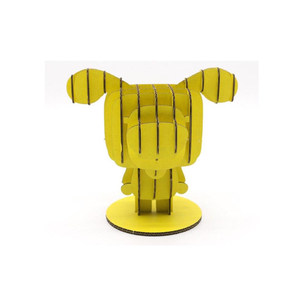 Желтый Дерек dezico серии 3D головоломки модель картон DIY ручной Творческий интеллектуальные образовательные поделок из бумаги детские игрушк...