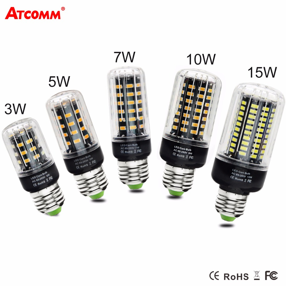 Ampoule Led 3w Us 1 61 32 Off Ampoule Led E27 Corn Bulb 3w 5w 7w 10w 15w 85v 265v E14 Led Diode Lamp High Lumen Smd 5733 Chip No Flicker Spotlight Bombillas In Led