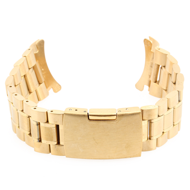 New 24mm Golden Wristwatch Part Stainless Steel Metal Bracelet Watch Strap Men's watch Band Accessories Watchbands Reloj Mujer brand new riso rpa3 metal screen part 030 16249