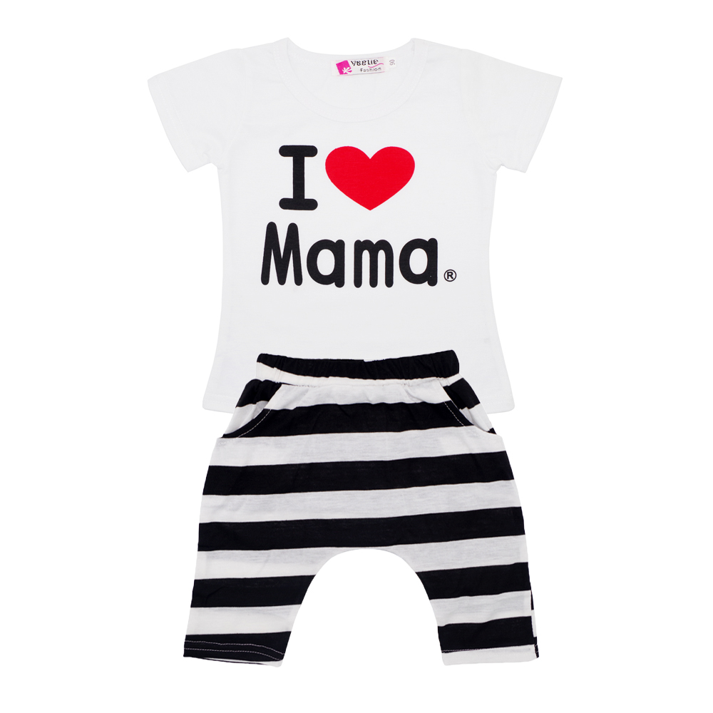 Summer hot sale baby boys girls clothes set casual kid t shirt+short pants outfit clothes set 2pcs for children 90-130 height