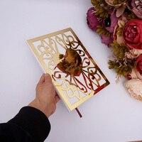 Пользовательские Свадебная книга для подписей посетителей вечерние Decor персонализированные акрил зеркало передняя крышка книги невесты с...