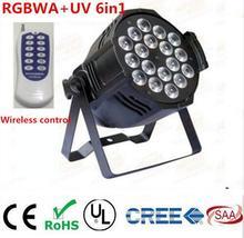 Kablosuz uzaktan kumanda 18×18 W RGBWA UV 6in1 LED Par spot led dj projektör yıkama aydınlatma sahne ışık DMX işık
