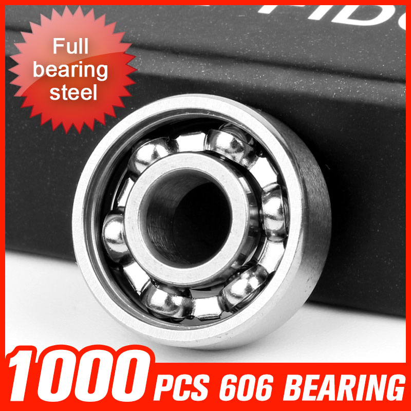 1000pcs 606 Miniature Ball Bearing For Medicine Field Mechanical Motor Rotating Skating Board Hardware Tool Accessories 1000pcs 9 beads 688 bearing for waste incinerator machine fan motor skating roller board shaft hardware tool accessorie
