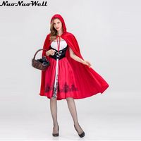 Hot Sexy Dress Size S M L XL Costume Adult Little Red Riding Hood Costume Halloween