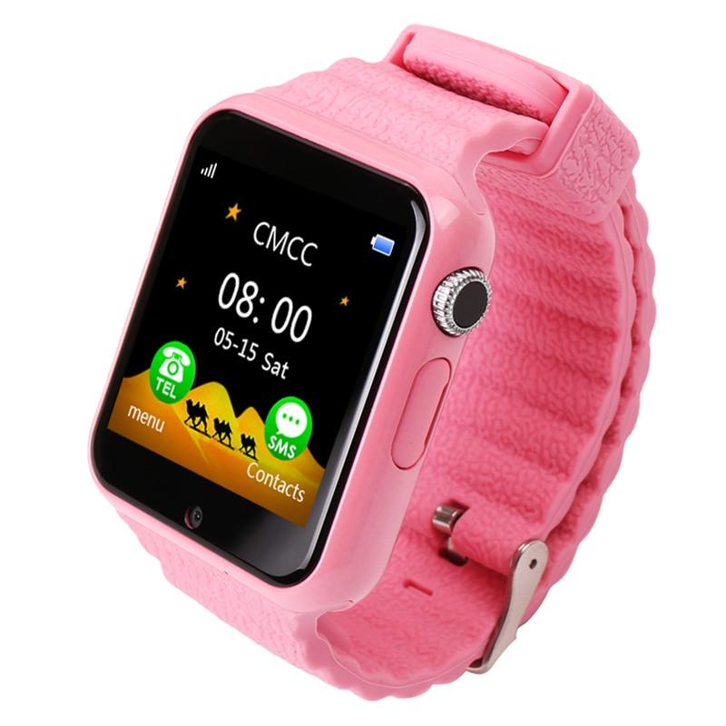 V7 Children GPS Camera Emergency Security Anti Lost Waterproof Watch Multi-function Step Tracker Phone Watch