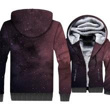 Space Galaxy 3D Print Hoodie Men Colorful Nebula Cap Sweatshirt Harajuku Stars Coat Winter Fleece Dreamlike Star Jacket