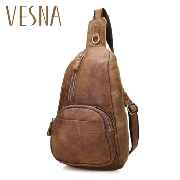 Factory Wholesale Summer New Leather Chest Bag Men's Casual Fashion Trend Korean Version Of The First Layer Of Leather Chest Bag ms new wave korean version of the joker laptop shoulder bag the first layer ms leather messenger bag zipper leather handbag
