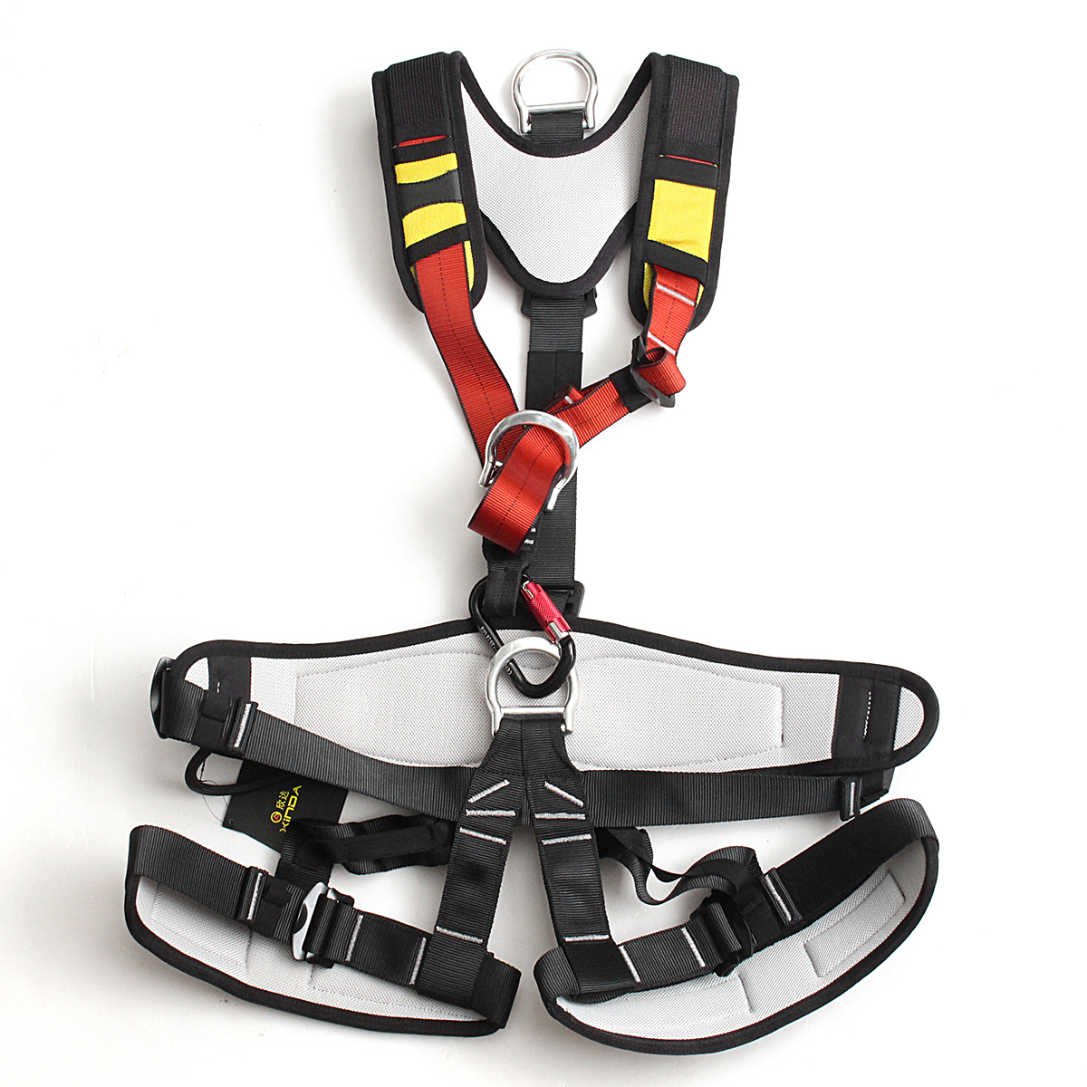 Full Body Safety Rock Mountain Climbing Rappelling Harness Tree Arborist Seat Belt Strap Body Safety Harness Wearing Seat Belt outdoor rock tree climbing rappelling full body safety belt harness black for camping hiking carving equipment climbing acces