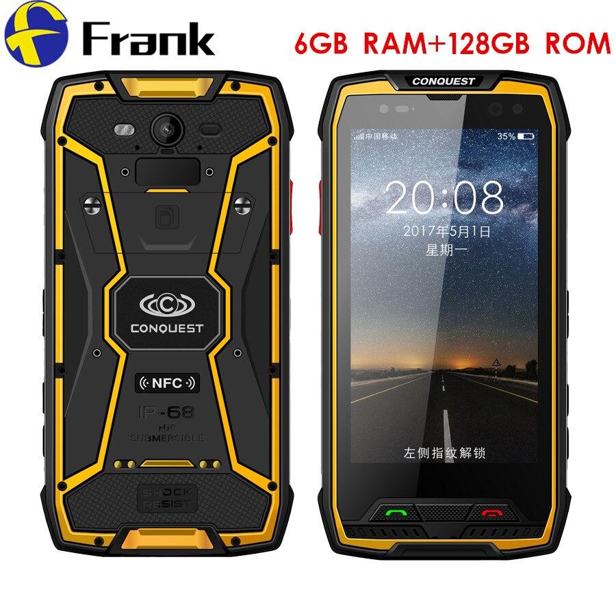 Originais Conquista S11 Smartphone À Prova de Choque IP68 Telefone À Prova D' Água 6 GB 128 GB 7000 mAh Fringerprint PTT NFC OTG Telefone Robusto
