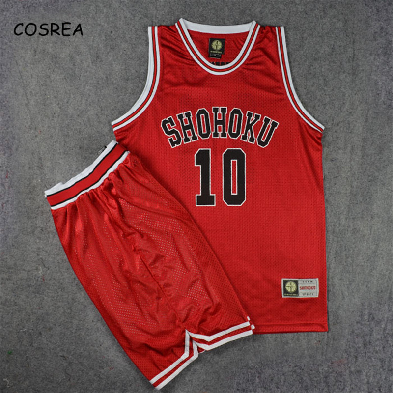 Anime Slamdunk Team Uniform Cosplay Costumes Shohoku Sakuragi Basketball Jersey Tops Shorts Sport Wear School Basketball Adults