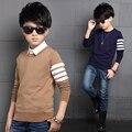 Nova Teeage Meninos Camisola Crianças Outwear Blusas de Design Da Marca Para O Inverno Menino Outono Roupas 4 Crianças Camisola de Lã Quente-12 Ano