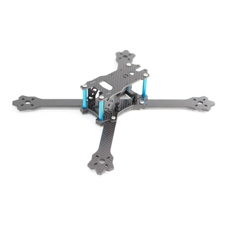 A-Max Standard 3 220mm Stretch-X 5 Inch Carbon Fiber RC Drone FPV Racing Frame Kit 3.5mm Arm Support Runcam Swift Motor 2205 VTX driven racing standard clip ons 55mm black dclo55bk