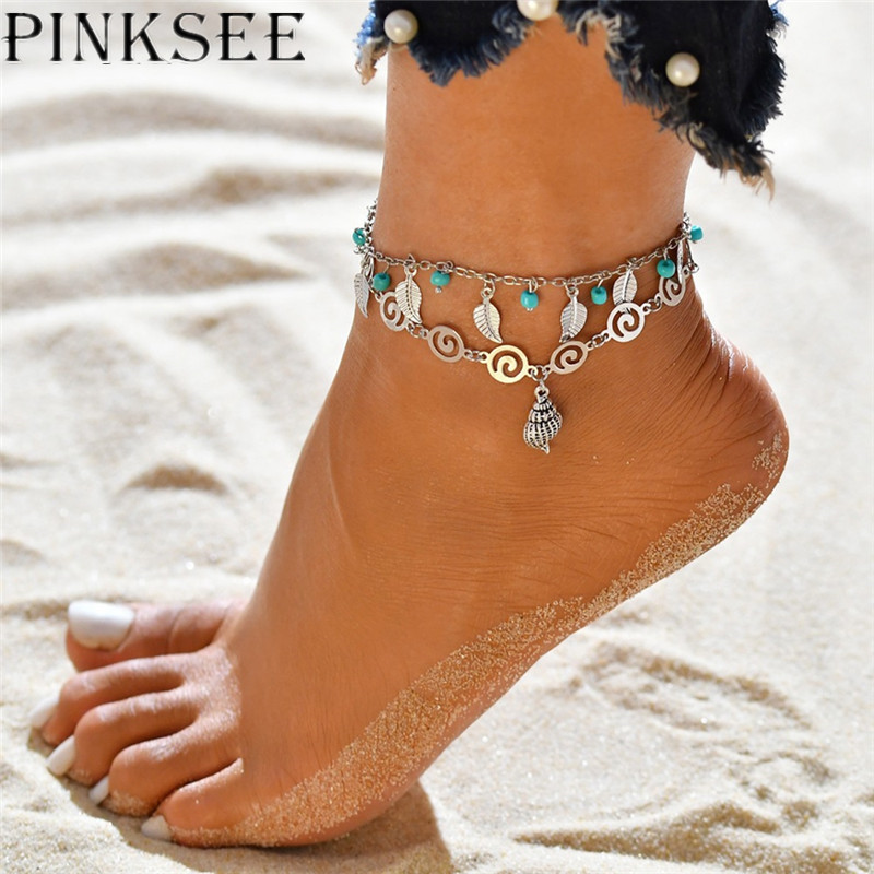 Jewelry & Watches Trustful Charm Anklet Bracelet Chain Silver Vintage Boho Beach Wedding Barefoot Sandal
