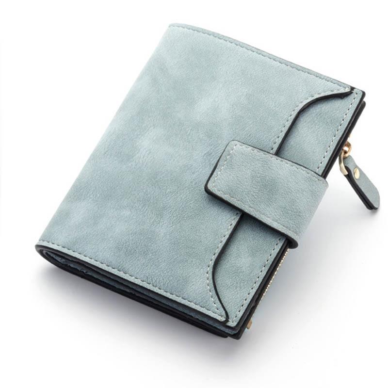 Baellerry Luxury Short Womens Cute Zipper Coin Pocket Trifold Wallet Leather Women Card Holder Clutch Hasp Ladies Purse W105 4