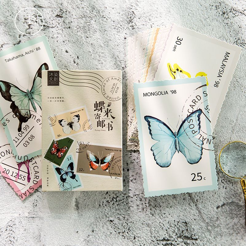 30 Sheets/Set Butterfly Postcard/Greeting Card/Message Card/Birthday Letter Envelope Gift Card30 Sheets/Set Butterfly Postcard/Greeting Card/Message Card/Birthday Letter Envelope Gift Card