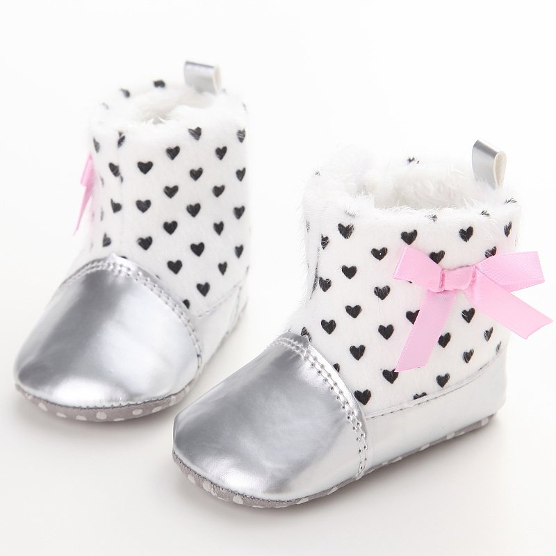 Infant Toddler Baby Boys Girls Boots Winter Warm Baby Shoes PU Padded Soft Newborn Bebe Shoes Lovely