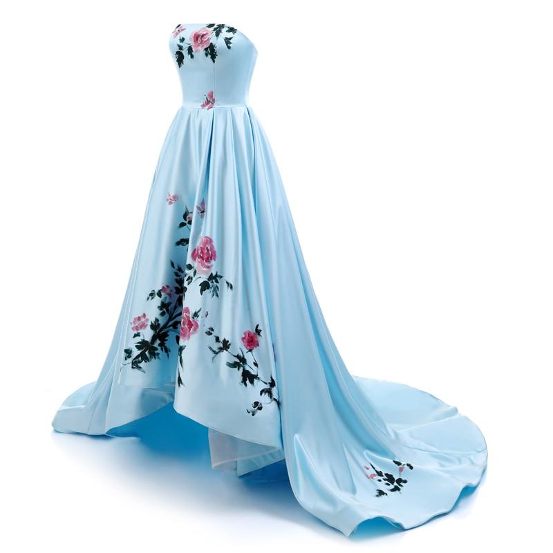 Sunvary 2018 New Sweetheart Hand Drawing Prom Dress Long High Low - Հատուկ առիթի զգեստներ - Լուսանկար 3