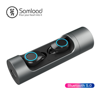 Samload Bluetooth 5.0 Earbuds Sport Wireless Headphones Waterproof Earphones with Portable charging box and Mic For Smart Phone
