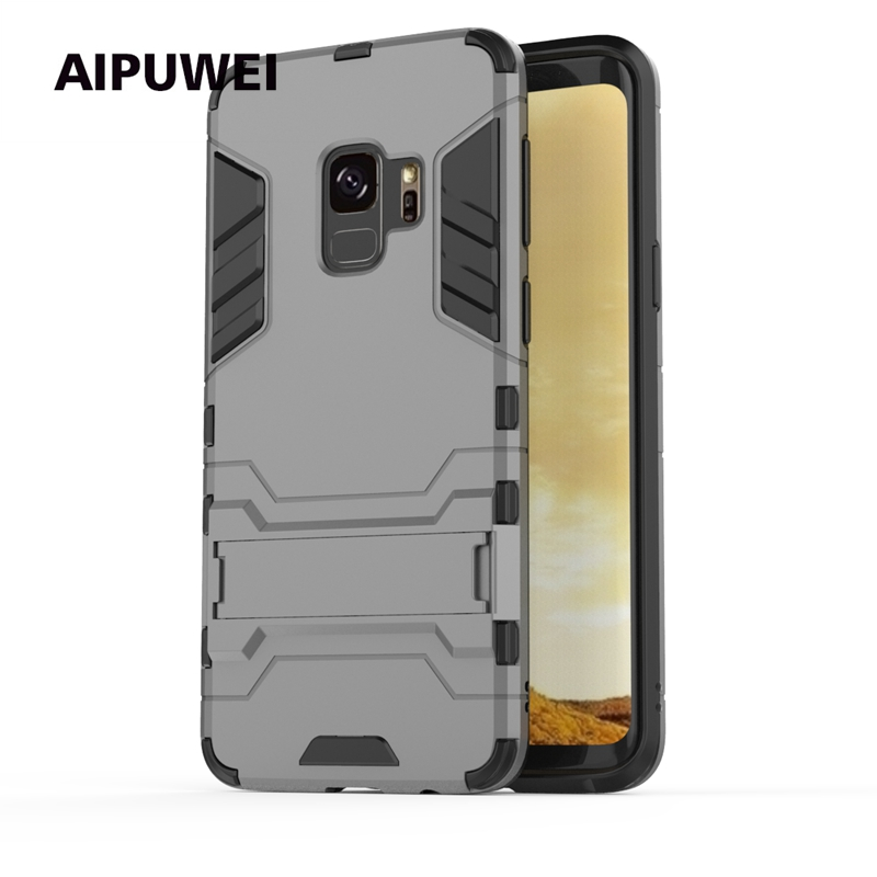 AIPUWEI For Samsung Galaxy S9 case for Samsung S9 case S9 plus cover armor kickstand back cover case for Galaxy S9 S 9 plus bag