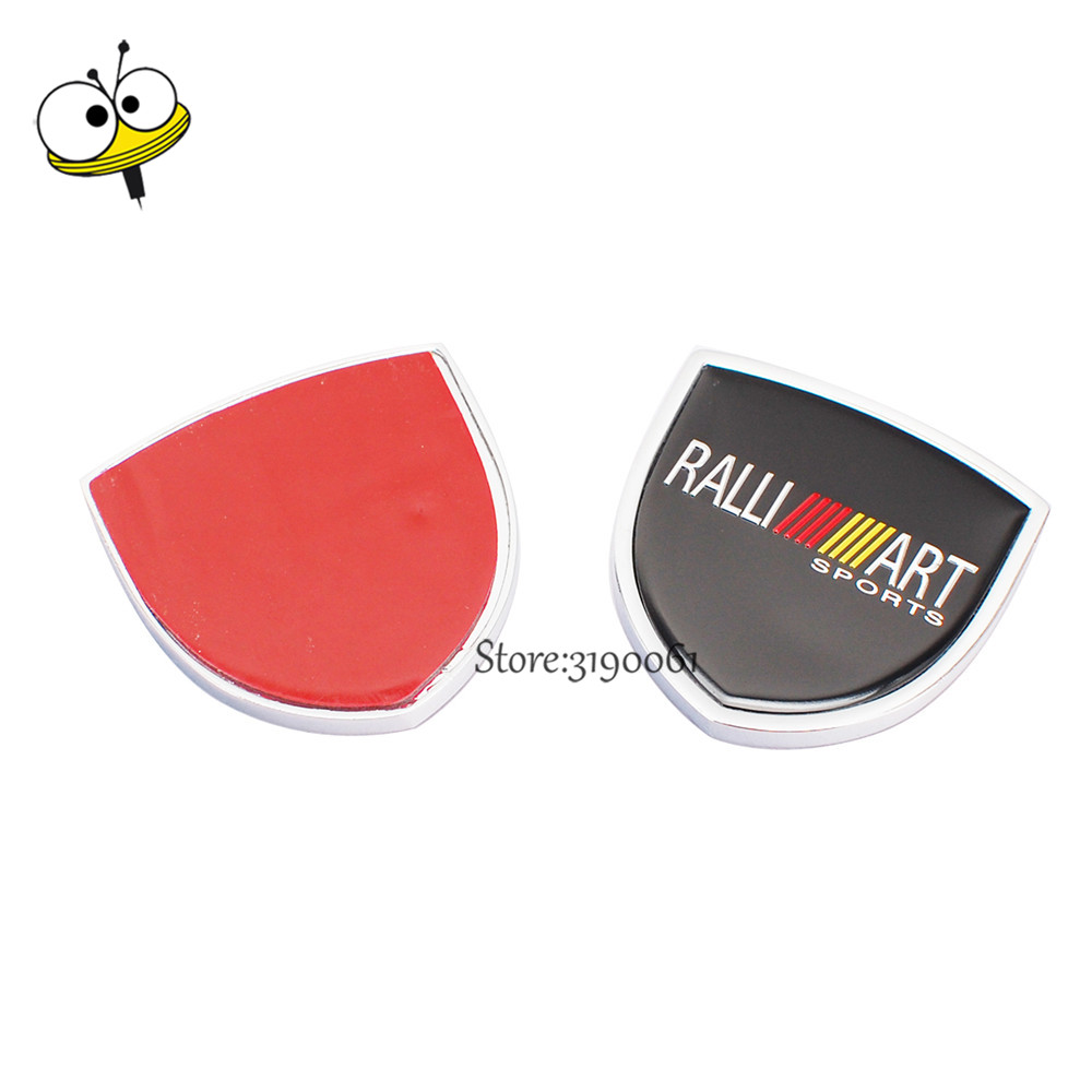 Metal car sticker emblem badge decal car styling for ralliart logo metal car sticker emblem badge decal car styling for ralliart logo for mitsubishi pajero outlander l200 asx evo outlander mirage in car stickers from buycottarizona Gallery