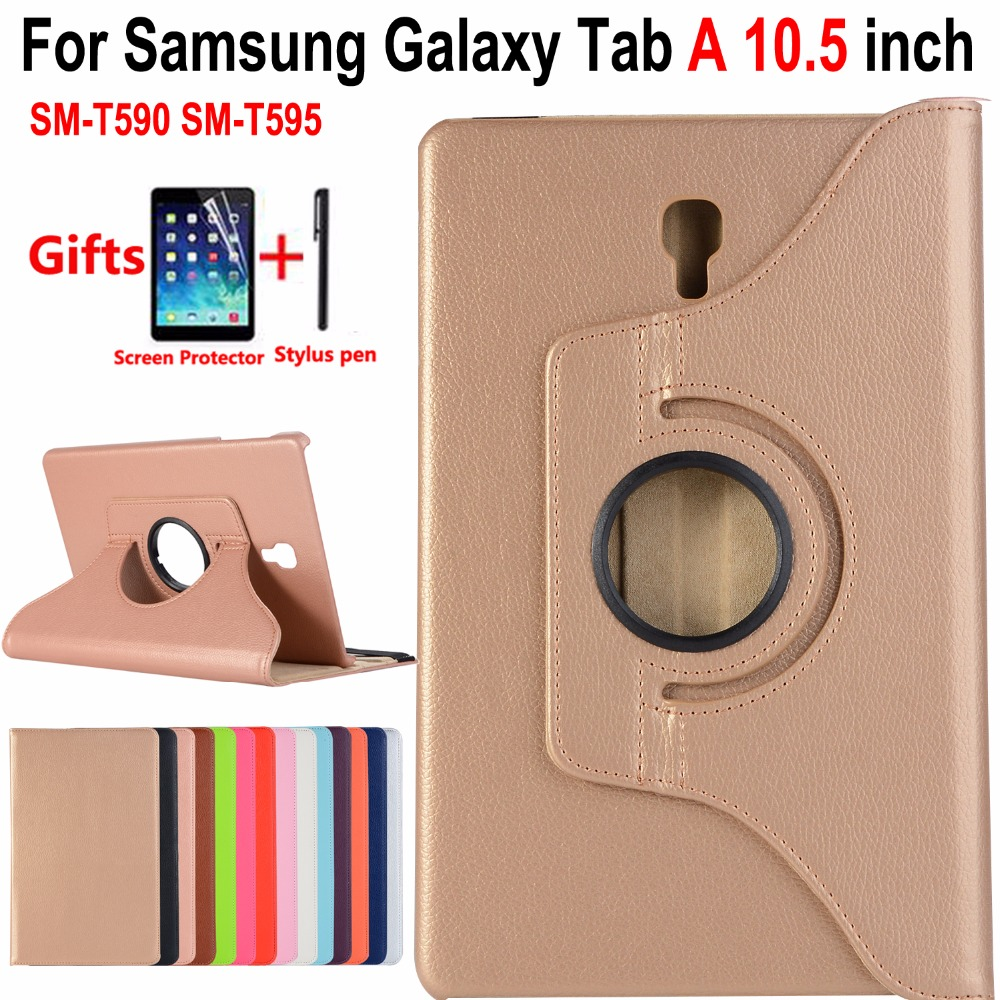 360 Degree Rotating Smart Case for Samsung Galaxy Tab A/A2 10.5 SM-T590/T595 T590 T595 Shockproof Cover for Samsung Tab A 10.5