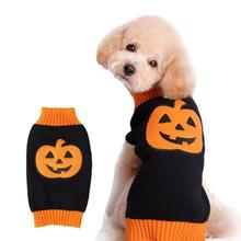 NACOCO Dog Sweater Pumpkin Pet Sweaters Halloween Holiday Party for Cat and Puppy