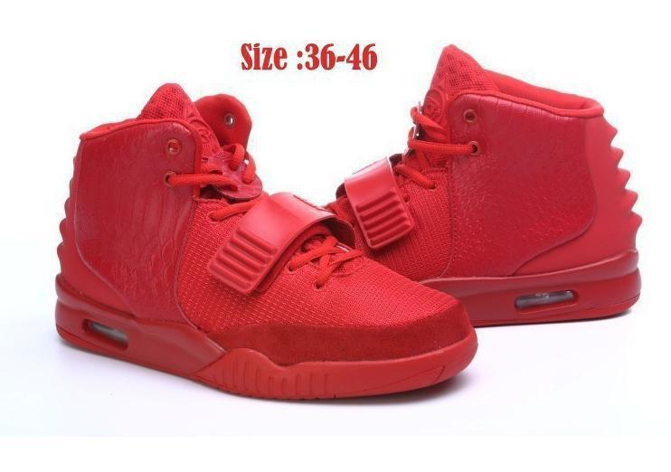 zapatos yeezy rojos