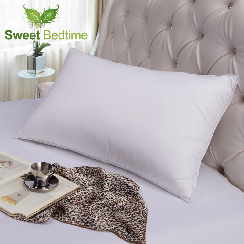 soft 750 fill power white goose down gusseted pillow insert down surrounded feather neck back pillows inner sleeping pillow core