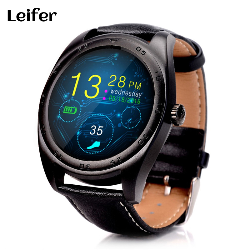Leifer K89 Bluetooth Heart Rate Monitor Smart Watch Built in loudspeaker Microphone Smartwatch for Android iPhone