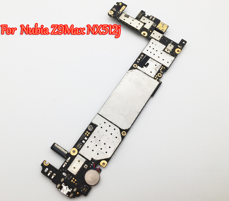 Tested Full Work Unlock Motherboard For ZTE Nubia Z9 Max NX512j 2GB+16GB  with Small Camera Logic Circuit Electronic Panel FPC