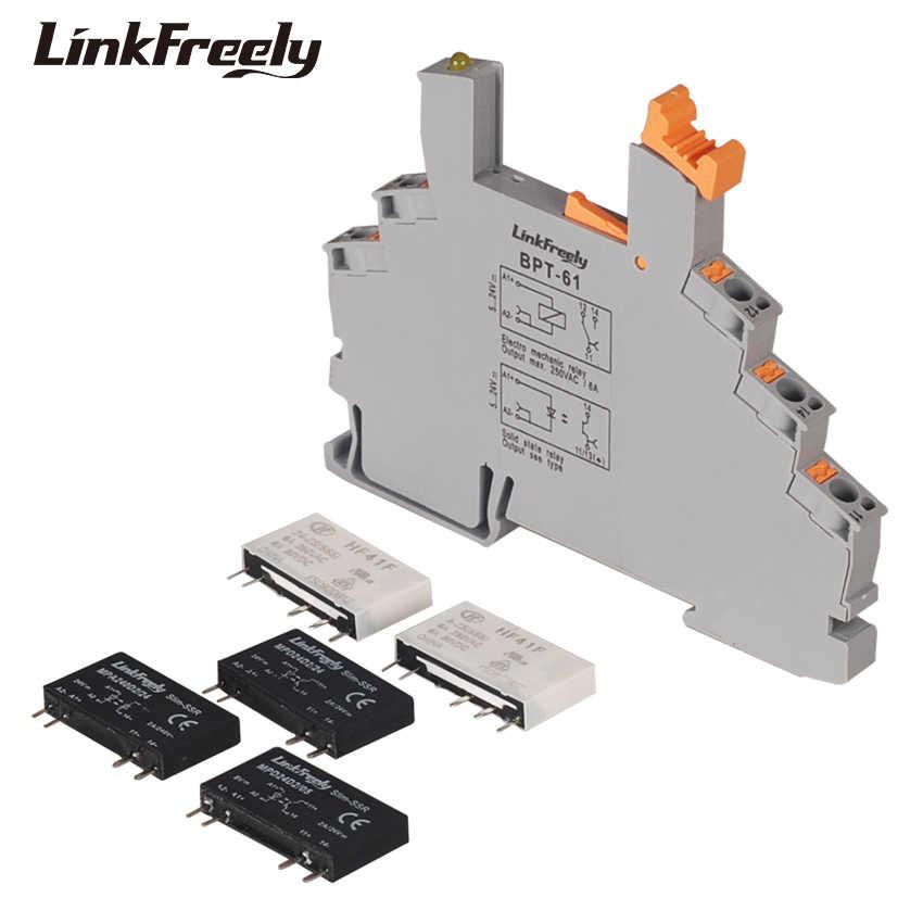 MPC250D6Z24BP-61 Plug-in bahar bağlı endüstriyel röle 24V 12mA giriş 250VAC/30VDC 6A çıkış ultra-ince gerilim röle modülü